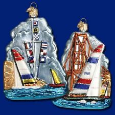 """""""Win the Cup!"""" Sailing Scene (46048) Old World Christmas Glass Ornament"""