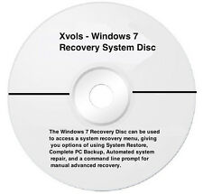 Window 7 ,64 & 32-Bit Disc -Restore- Repair & Recover Installation Window 7 CD