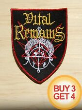 VITAL REMAINS PATCH BUY3GET4,NILE,BEHEMOTH,BOLT THROWER,DEATH METAL,MORBID ANGEL