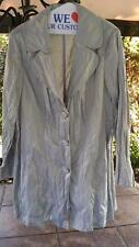 LANE BRYANT Metallic Gray Silver Crinkle Trench Jacket Coat Woman Plus 20
