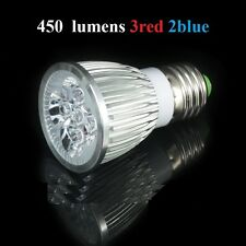 led grow light 5W 10W E27  lamp hydroponics bulb PAR dual spectrum 3 red 2 Blue