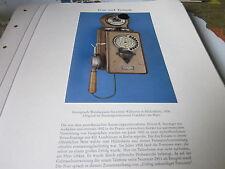 Post Archiv 8 Technik 12 Fernsprech Wandapparat 1. Wählamt Hildesheim 1908