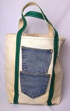 Vintage LL Bean Freeport Maine Boat and Tote Jean Pockets