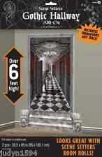 HALLOWEEN GOTHIC HALLWAY SCENE SETTER ADD ON HORROR PARTY WALL DECORATION
