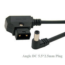 D-Tap Male to Right Angle DC 5.5x2.5mm Cable fr DSLR Rig Power V-Mount Anton0.6m