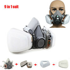 9 in 1 Paint Spraying For 3M 6200 6001cn N95 Half  Face Respirator Gas Mask