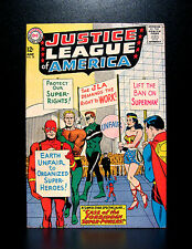 COMICS: Justice League of America #28 (1964), 1st Headmaster Mind app - (flash)