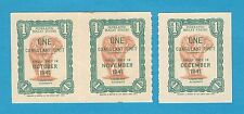 Federated Malaya States Rubber Export Coupon 1 Coagulant Oct Nov Dec 1941