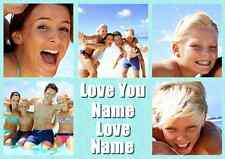Personalised Your Photos Love You Collage Theme A3 Photo Print Poster