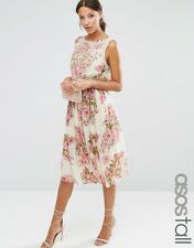 NWT ASOS Sold Out Floral Midi Dress With Sequences Details - Size 16 -RRP £85
