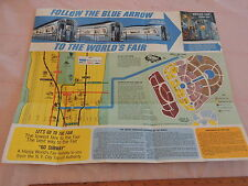 RARE 1964 1965 New York City NYC Subway Map Worlds Fair Flushing Train Transit