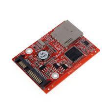 New SD SDHC MMC Card To SATA 7+15pin HDD Hard Disk Drive Converter Perfect