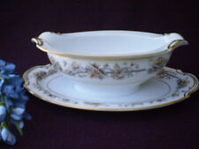 Noritake China Lucerne Gold Trim Gravy Boat W. Attached Underplate Made In Japan