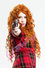 USA Ship! Long Brave MERIDA Costume Wig Brave Movie Disguise Cospaly Wig CB38