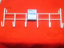 Over The Door Home Bathroom Hat Bag Coat Towel Hanger 6 Hook Rack 18 Inches Long