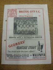 27/12/1955 Bristol City v Plymouth Argyle (piegati, piegato, preso a pugni si sono nascosti, scor