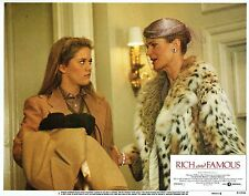 RICH AND FAMOUS, mint orig 1981 Lobby Card, CANDICE BERGEN & MEG RYAN, Geo Cukor