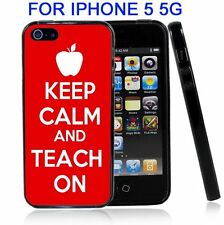 Keep Clam And Teach On For Iphone5 5G Case Cover