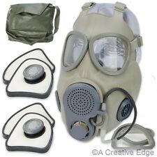 Czech Military M10M NBC Gas Mask w/2 Filters, Drinking Tube, Bag - NEW & Sealed