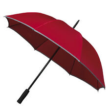 Falcone Reflective Hi-Vis Golf Umbrella - Red