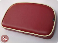 VESPA/LAMBRETTA TSR Rear Rack Back Pad Oxblood Red/Cream Pipe