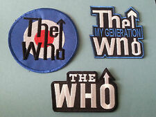 SET OF THREE MUSIC SEW/IRON ON PATCHES:-  THE WHO