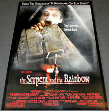 Wes Craven SERPENT AND THE RAINBOW 1988 ORIG. ROLLED 27x40 MOVIE POSTER! HORROR!