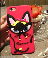 iPhone 6/S/Plus Dsquared2 Kitty Cat Silicone Shockproof Soft Case Cover
