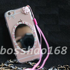 Glitter Luxury Bling Diamonds Soft TPU Gel Shell back Case Cover with strap #2