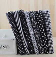 Wholesale Series 7 PCS Pre-Cut Plain Cotton Quilt cloths Fabrics for Sewing