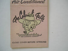 Vintage Early Matchbook Cover The Colonel's Table Coffee Shop Ft. Lauderdale FL