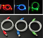 LED Visible Light Micro USB Charge Data Sync Cable for Android Samsung Sony hTC
