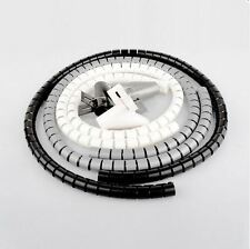 2.5M Spiral Cable Cord Power Wire Management Organizer Wrap with Clip lt