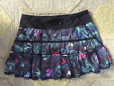 LULULEMON Pace Setter Skirt Curious Jungle Floral EUC Discontinued Style Sz 4