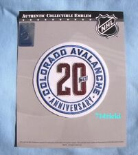 Official NHL 2015 - 2016 Colorado Avalanche 20th Anniversary Patch
