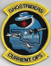 USAF 71ST OSS PATCH  - VANCE AFB    'GHOSTRIDERS'       HOOK & LOOP       COLOR