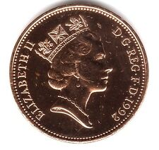 1992 2P COIN RARE * UNCIRCULATED * COLLECTABLE NEW SMALL STYLE TWO PENCE (a)