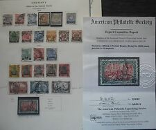 German Offices in Turkey Collection w/cert Cat $2401 (20977)