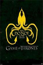 GAME OF THRONES POSTER ~ GREYJOY CREST 24x36 TV Sigil Logo We Do Not Sow