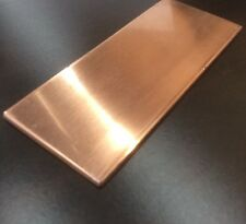 """1/8"""" COPPER SHEET PLATE NEW 2""""x5"""" .125 THICK"""