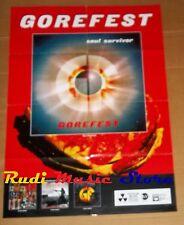 POSTER metal PROMO GOREFEST SOUL SURVIVOR 84X59,5cm NOcd dvd vhs lp live mc