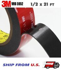 """3M VHB Double Sided Foam Adhesive Tape 5952 Automotive Mounting 1/2"""" x 21 FT"""