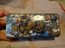 Russian Hand Painted Lacquer box Fairytale Emelya and Magic Pike Signed 5.5''