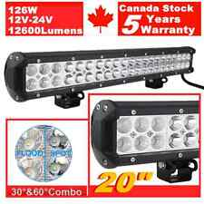 20inch 126W CREE Led Light Bar Work Driving Fog Offroad 4WD Truck Jeep SUV 22/24