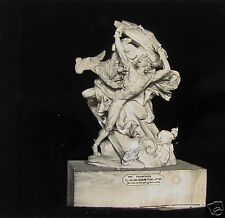 Glass Magic Lantern Slide PROMETHEE STATUE MUSEUM LOIRE C1890 FRANCE