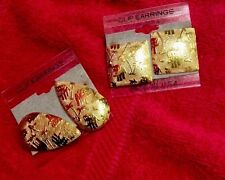 Elephant Earrings, Clip On, Gold Tones, Fashion Jewelery Length 1 inch.**PICK 1