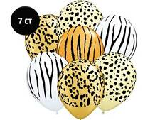 "SAFARI JUNGLE Animal Print 11"" Latex Balloons Zoo Birthday Party Shower Supplies"