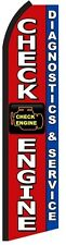 CHECK ENGINE SERVICE Auto Repair Swooper Flag Feather Bow Flutter Banner Sign