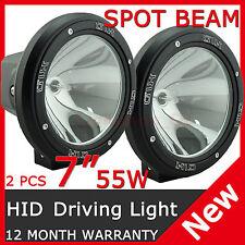 "PAIR 55W 7"" HID XENON Spotlight OFFROAD Driving lights Lamp Spot Beam 4WD 12V"