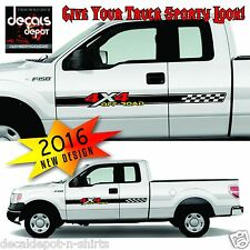 4x4 Off Road Truck Bed Decals Black (Set) for Ford F-150 and Super Duty ANY YEAR